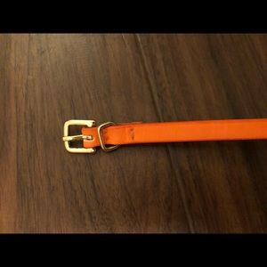 J Crew Thin Orange Leather Belt